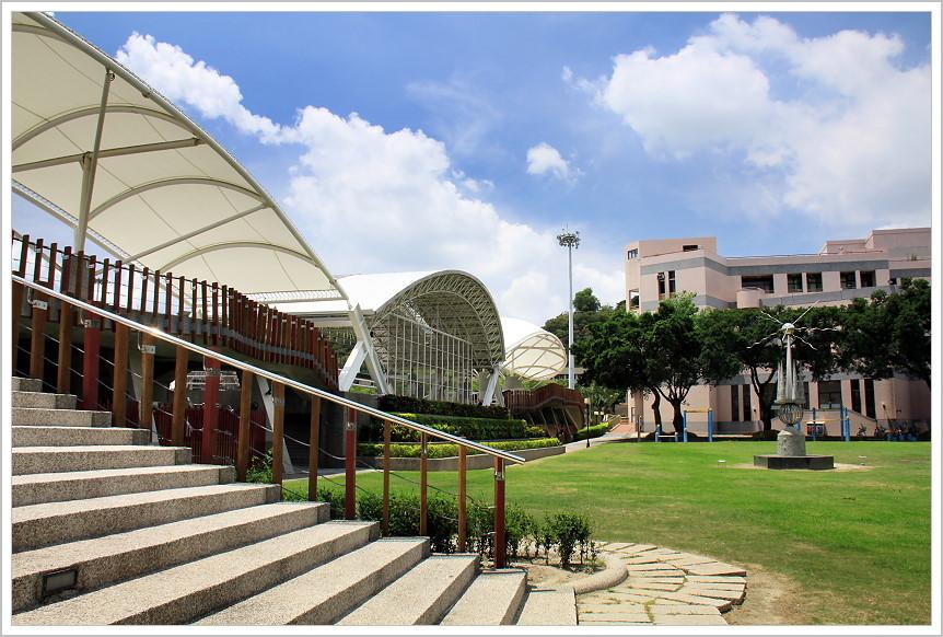 校園景觀:運動場景觀看台